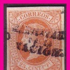 Sellos: FILIPINAS 1869 ISABEL II, HABILITADOS POR LA NACIÓN, EDIFIL Nº 20 P (*). Lote 69713629