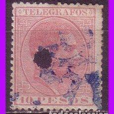 Sellos: TELÉGRAFOS FILIPINAS 1880 ALFONSO XII, EDIFIL Nº 8 (O). Lote 95839235
