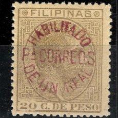 Sellos: FILIPINAS HABILITADO PARA CORREOS. ** MNH. SIN CHARNELA NO CATALOGADO. RARISIMO. Lote 107829119