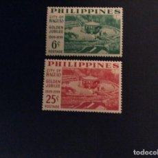 Sellos: FILIPINAS Nº YVERT 485/6***AÑO 1959. CINCUENTENARIO DE LA CIUDAD DE BAGUIO. Lote 109504019