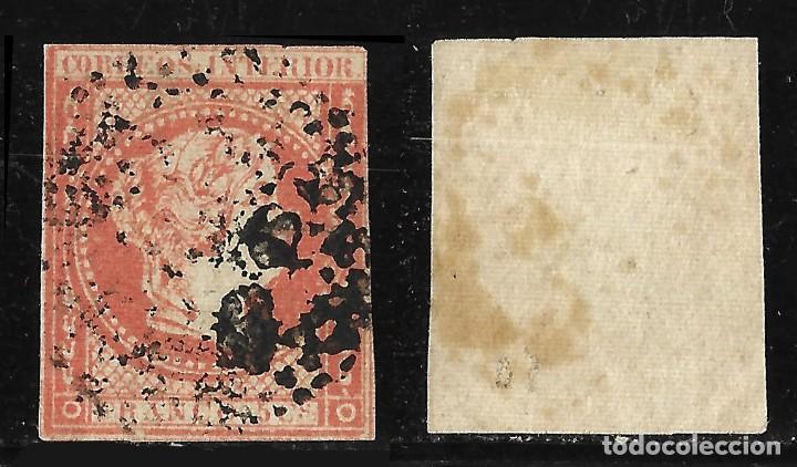 Sellos: Sellos España. Colonias Españolas. Filipinas. 1862 IsabeI II. Edifil N10. Matasello - Foto 2 - 117396663