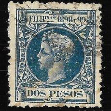 Sellos: SELLOS ESPAÑA. COLONIAS ESPAÑOLAS. FILIPINAS. 1898. ALFONSO XIII. EDIFIL Nº 150. MATASELLO.2P. AZUL. Lote 117414939