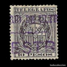 Sellos: SELLO ESPAÑA.FILIPINAS TELÉGRAFO. 1890.10 PESOS.SOBRECARGA MINISTERIO MUESTRA EDIFIL Nº36. NUEVO*.. Lote 137327814