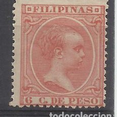 Sellos: ALFONSO XIII PELON FILIPINAS 1894 EDIFIL 112 NUEVO* VALOR 2018 CATALOGO 3.20 EUROS. Lote 139221430