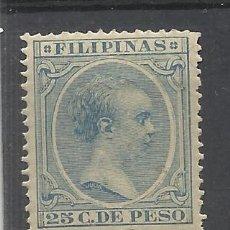 Sellos: ALFONSO XIII PELON FILIPINAS 1891 EDIFIL 104 NUEVO* VALOR 2018 CATALOGO 3.10 EUROS. Lote 139223658