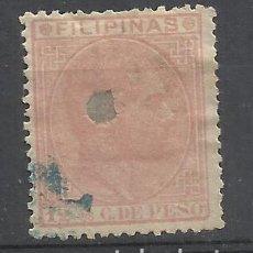 Sellos: ALFONSO XII FILIPINAS 1880 EDIFIL 64 TALADRADO VALOR 2018 CATALOGO 2.50 EUROS. Lote 139252590