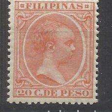 Sellos: ALFONSO XIII FILIPINAS 1896 EDIFIL 128 NUEVO* VALOR 2019 CATALOGO 7.40 EUROS. Lote 140391706
