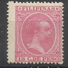 Sellos: ALFONSO XIII FILIPINAS 1894 EDIFIL 115 NUEVO* VALOR 2019 CATALOGO 3.70 EUROS. Lote 140391810