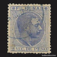 Sellos: FILIPINAS 1880-1883. ALFONSO XII. 2 4/8 CT. USADO. EDIFIL Nº59B.. Lote 143191982