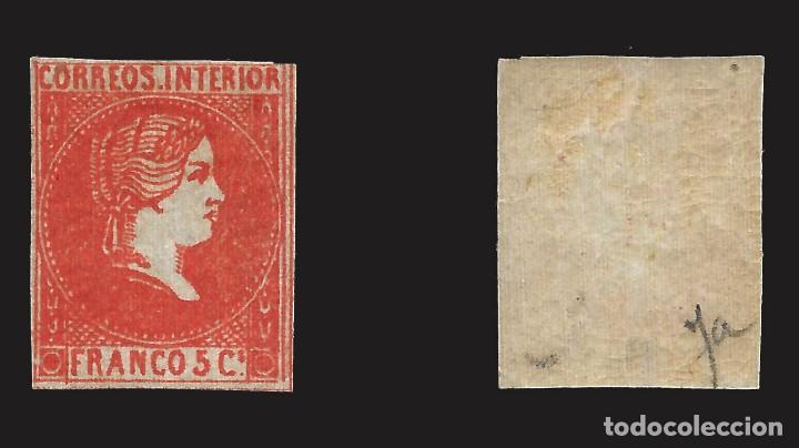 Sellos: FILIPINAS.1861.Isabel II.5 cu.Nuevo* Edifil.9 - Foto 2 - 143280698