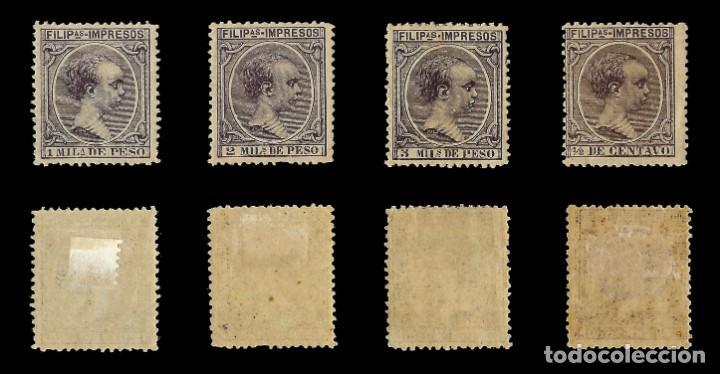 Sellos: Sellos España.Colonias Españolas.FILIPINAS.1890. Alfonso XIII.Serie completa.Nuevo*.Edifil nº76-87 - Foto 3 - 143844390