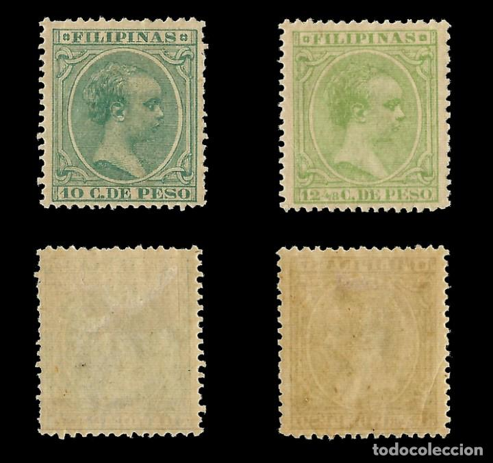 Sellos: Sellos España.Colonias Españolas.FILIPINAS.1890. Alfonso XIII.Serie completa.Nuevo*.Edifil nº76-87 - Foto 5 - 143844390