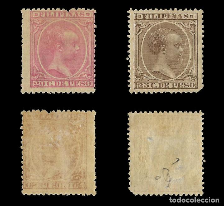 Sellos: Sellos España.Colonias Españolas.FILIPINAS.1890. Alfonso XIII.Serie completa.Nuevo*.Edifil nº76-87 - Foto 2 - 143844390