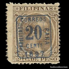 Sellos: FILIPINAS 1897.ALFONSO XII. HABILITADO.20C S 20C SEPIA.NUEVO EDIFIL Nº130G.SCOTT Nº 184. Lote 143918810