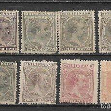 Sellos: ESPAÑA - FILIPINAS 1891-1893 * MH - 1/59. Lote 148526286