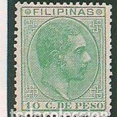 Sellos: FILIPINAS. ED. 75. 10 CTS VERDE 1886-89. ALTO VALOR.RECORTE DE FOTOGRAMA PARA RELLENAR EN ÁLBUM. Lote 148670950