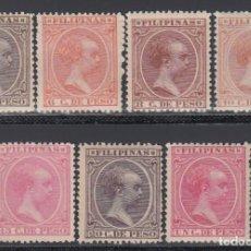 Sellos: FILIPINAS, 1894 EDIFIL Nº 109, 110, 112, 113, 114, 115, 116, /*/,. Lote 152342450