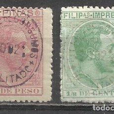 Sellos: Q505J-Q505J-SELLOS CLASICOS NUEVOS (*) FILIPINAS COLONIA ESPAÑA PHILIPPINES CLASSIC COLONIAL 1888-9 . Lote 154829626