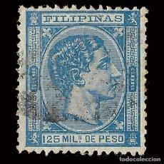 Francobolli: SELLOS. ESPAÑA.FILIPINAS 1878-1879. ALFONSO XII. 125 M. AZUL. USADO. EDIFIL Nº47.SCOTT Nº68. Lote 165424866