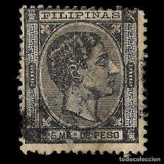 Sellos: FILIPINAS. 1878-1879. ALFONSO XII. EDIFIL Nº 41.USADO.25 M NEGRO CLARO. Lote 167517120