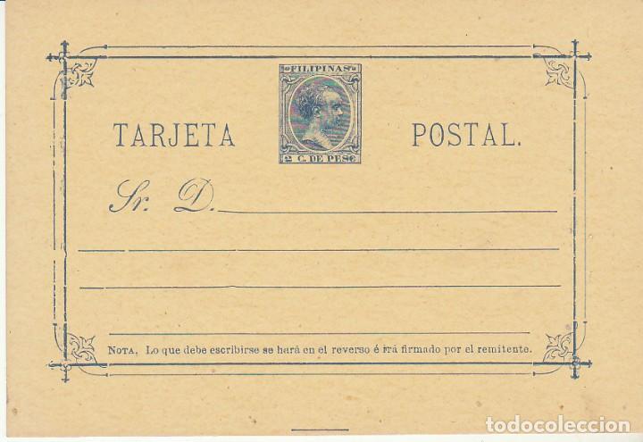 E.P.: XX 10. ALFONSO XIII. TIPO PELÓN. 1896 (Sellos - España - Dependencias Postales - Filipinas)