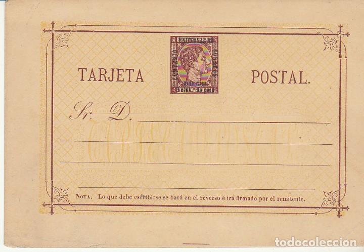 E.P.: XX 2. ALFONSO XII -SOBRECARGA CON. UNV. CORREOS-1879 (Sellos - España - Dependencias Postales - Filipinas)