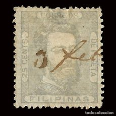 Sellos: .FILIPINAS.1872.AMADEO I.25C.USADO. EDIFIL Nº27 SCOTT Nº45. Lote 174320832