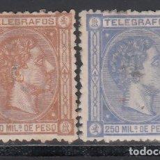 Sellos: FILIPINAS, TELÉGRAFOS, 1876 - 1882 EDIFIL Nº 2 / 3 . Lote 177210852