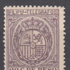 Sellos: FILIPINAS, TELÉGRAFOS, 1894 EDIFIL Nº 53 /**/, SIN FIJASELLOS. Lote 177213275