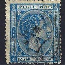 Sellos: FILIPINAS 1878-1879 - 125 MILS. DE PESO - ALFONSO XII - EDIFIL 47 - USADO. Lote 177234303