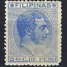 Sellos: FILIPINAS 1880-1883 - 2 4/8 DE PESO - ALFONSO XII - EDIFIL 59 - USADO. Lote 177234565