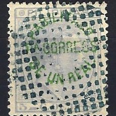 Sellos: FILIPINAS 1880-1883 - 5 C. DE PESO HABILITADO PARA CORREOS RECARGO - ALFONSO XII - EDIFIL 60 - USADO. Lote 177249432