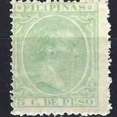 Sellos: FILIPINAS 1894 - 5 C. DE PESO - ALFONSO XIII - EDIFIL 111 - NUEVO *. Lote 177304834