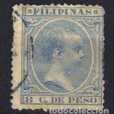 Sellos: FILIPINAS 1891-1893 - 8 C. DE PESO - ALFONSO XIII - EDIFIL 98 - USADO. Lote 177309407