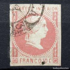 Sellos: FILIPINAS ESPAÑOLAS 1859 ~ REINA ISABEL II • PUNTO DETRÁS DE CORREOS ~ SELLO USADO. Lote 177656974