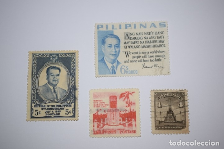 FILIPINAS. 4 SELLOS ANTIGUOS (Sellos - España - Dependencias Postales - Filipinas)