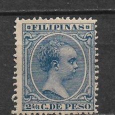 Sellos: ESPAÑA FILIPINAS 1890 EDIFIL 81 * - 2/53. Lote 180130223