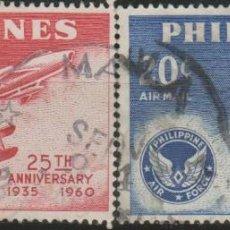 Sellos: LOTE (10) SELLOS FILIPINAS CORREO AEREO GRAN TAMAÑO. Lote 184013927