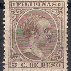 Sellos: ESPAÑA FILIPINAS 1896 EDIFIL 124 - 17/6. Lote 185946691