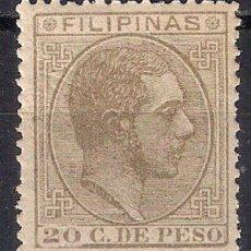 Sellos: ESPAÑA FILIPINAS 1880 EDIFIL 65 * - 17/6. Lote 185946778