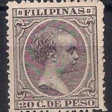 Sellos: ESPAÑA FILIPINAS 1894 EDIFIL 116 (*) - 17/6. Lote 185946931