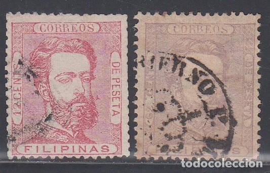 FILIPINAS, 1872 EDIFIL Nº 25, 28, (Sellos - España - Dependencias Postales - Filipinas)