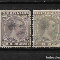 Sellos: FILIPINAS 1891 EDIFIL 93/94 * - 3/3. Lote 187215157