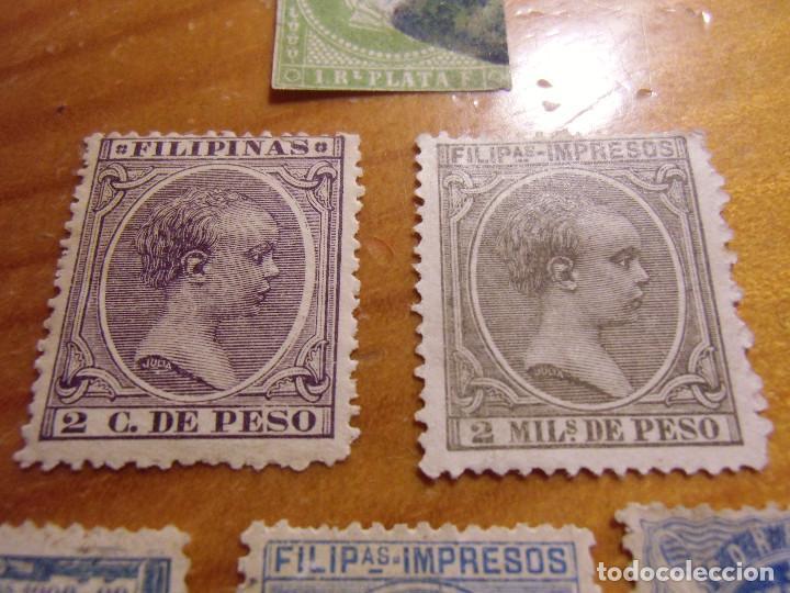 Sellos: FILATELIA.ESPAÑA CLASICOS ULTRAMAR.FILIPINAS.6 VALORES,VER FOTOS ADJUNTAS. - Foto 3 - 187429560