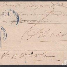 Sellos: ENVUELTA, MANILA A PARIS, 21 ABRIL 1889, CIRCULADA CON SELLO HABILITADO . Lote 187451455