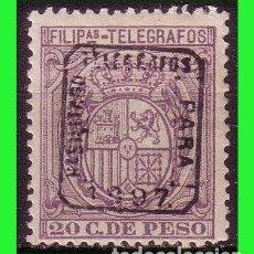 Sellos: FILIPINAS TELÉGRAFOS 1897 ESCUDO DE ESPAÑA, EDIFIL Nº 69A *. Lote 187512072