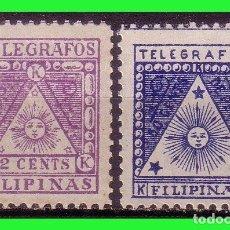 Sellos: FILIPINAS TELÉGRAFOS 1898 CORREO INSURRECTO, EDIFIL Nº 1 Y 2 * *. Lote 187512402