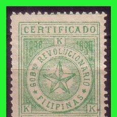 Sellos: FILIPINAS 1898 GOBIERNO REVOLUCIONARIO, EDIFIL Nº 3 (*). Lote 187528241