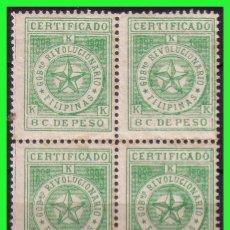 Sellos: FILIPINAS 1898 GOBIERNO REVOLUCIONARIO, EDIFIL Nº 3 B4 * *. Lote 187528491
