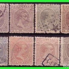 Sellos: FILIPINAS 1891 ALFONSO XIII, EDIFIL Nº 92 A 94, 97 A 99, 101 Y 102 (O). Lote 187529166